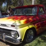 classic truck flames paint flame california