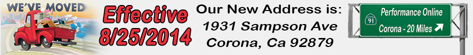 POL Has a New Address! 1931 Sampson Ave, Corona, CA 92879