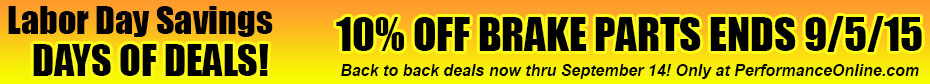 Days of Deals - 10% OFF BRAKE PARTS