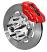 Plain 12.19 Rotor, Red Caliper