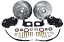 1968-73 Ford Mustang disc brake conversion kit - Black Caliper
