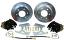 1963-70 CHEVY & GMC TRUCK 6-LUG REAR DISC BRAKE WHEEL KIT, BLACK CALIPERS