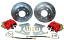 1963-70 CHEVY & GMC TRUCK 6-LUG REAR DISC BRAKE WHEEL KIT, RED CALIPERS
