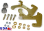 1953-62 CHEVY CORVETTE, DISC BRAKE CONVERSION KIT, LG. GM CALIPER (DB5362)