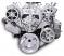 6 Rib Serpentine Pulley Kit w/ Billet PS Reservoir, Polished