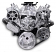 6 Rib Serpentine Pulley Kit w/ Remote PS Reservoir, Polished Finish