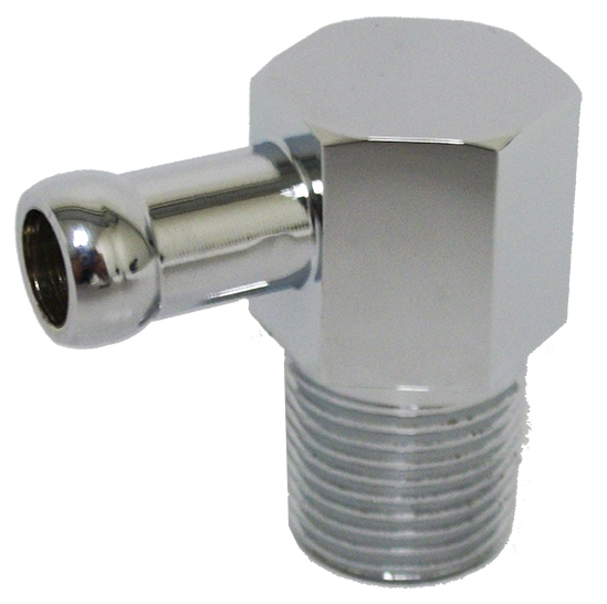9532P Single Port Vacuum Fitting - Chrome