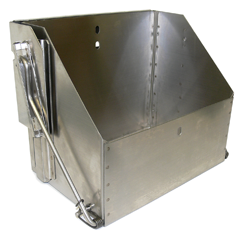 Stainless steel drop down battery box for group