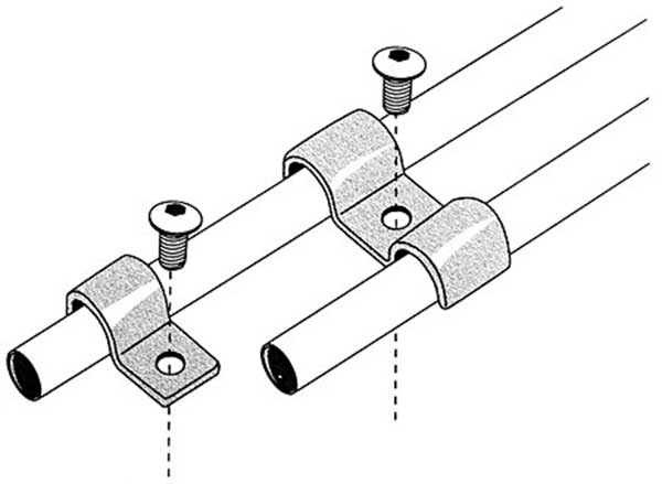 Stainless Steel Fuel And Brake Line Clamps Single