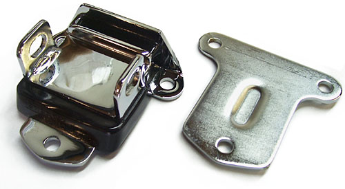 Chevrolet V-8 Engine Motor Mount, Polyurethane, Chrome, Pair