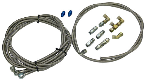 Hydro Boost Hose Hook Up Kit With Fittings Stainless