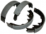 1936-58 CHEVY FULL SIZE, REAR HIGH PERFORMANCE BRAKE SHOES (SET of 4) 18286