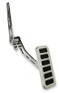 Gas Pedal, Chrome with Horizontal Inserts