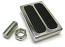 Brake Pedal, Polished Aluminum, 2 Inserts, Universal