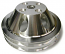 SMALL BLOCK CHEVY SHORT WATER PUMP PULLEY, ALUMINUM 2 GROOVE