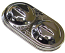 Master Cylinder Lid, Dual Clamp Corvette Type, Chrome