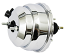 "Power Brake Booster, 8"" Dual Diaphragm, Chrome Plated"