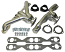 1955-57 Chevy Belair Headers, Ceramic Coated Shorty Type