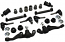 1963-66 Dodge, Plymouth, Chrysler, Mopar A-Body Front Suspension Rebuild Kit, Economy Rubber Bushings