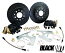 1955-70 Chevy Belair Impala Black Out Rear Disc Brake Conversion Kit, OEM Rearend