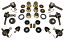 1962-67 Chevy Nova Front Suspension Rebuild Kit, Poly Urethane Bushings