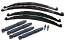 1955-59 Chevy, GMC Truck Stage 1 Suspension Kit, Multi Leaf Springs Front and Rear, Drop