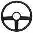 """G3 Billet 15"""" Steering Wheel - Black Out Spokes and Grip, Eddie Motorsports"""