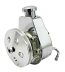 Saginaw Power Steering Pump, Chrome with Billet Cap and Aluminum Pulley