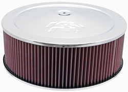 "14"" K & N Air Cleaner Assembly, 1.25"" Drop Base"