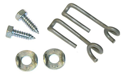 1964-67 GTO Power Glide, 4 Speed Center Cable Hooks, 6 Pcs
