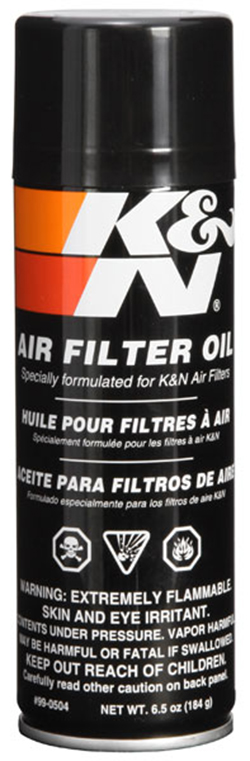K & N Filter Air Oil, 6.5oz Spray
