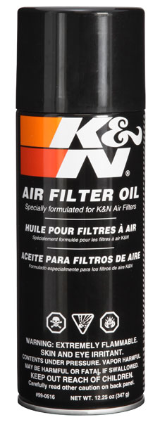 K & N Filter Air Oil, 12.5oz Aerosol Spray