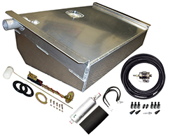 1962-67 Chevy II, Nova Aluminum Fuel Tank Kit, Fuel Injection Ready, 16 Gallons