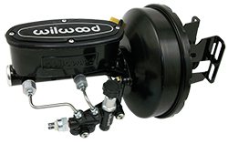 1960-66 Chevy C10 Truck Black Out Series Power Brake Booster Kit with Wilwood Master Cylinder