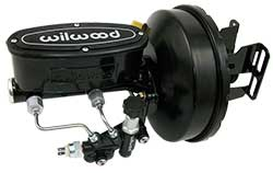 1967-72 Chevy C10 Truck Black Out Series Power Brake Booster Kit, Wilwood Master Cylinder
