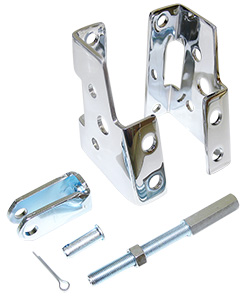 Power Brake Booster Mounting Bracket Kit, 64-74 Chevy GM Car, Chrome