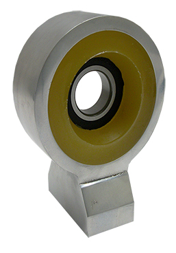 Driveshaft Carrier Bearing With Poly Urethane Insulator, Billet Aluminum, 58-64 Chevy Impala, 63-72 Chevy Truck