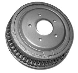 "Brake Drum, Rear, Finned Type, 9.5"" Diameter with 2.0"" Wide Brake Shoe"