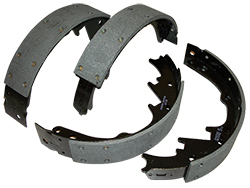 1964-73 FORD MUSTANG, FRONT HIGH PERFORMANCE BRAKE SHOES (SET OF 4)