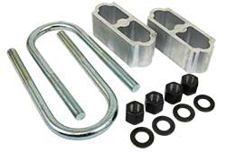 1960-72 Chevy Truck Lowering Block kit, Rear, Aluminum