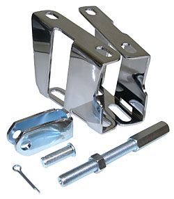CHROME BOOSTER BRACKETS WITH PEDAL CLEVIS & PUSHROD (BBK5565C)