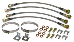 1967-92 CHEVY CAMARO/FIREBIRD/Z28, FRONT & REAR BRAKE HOSE TAB KIT, STAINLESS HOSES