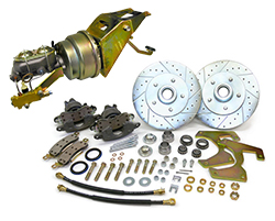"1953-56 Ford F-100 Truck Power Disc Brake Conversion Kit, 5 x 4.5"", 5 x 4.75"" Lug w/ Firewall Mount Booster"