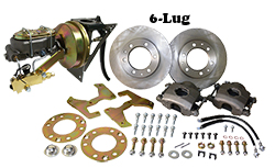 "1954-55 Chevy Truck and GMC Truck Front Power Disc Brake Conversion Kit, 6 x 5.5"" Bolt Pattern (6 LUG)"
