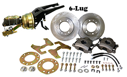 "1955-59 Chevy-GMC Truck Front Power Disc Brake Conversion Kit, 6 x 5.5"" Bolt Pattern, Firewall Mount Booster"