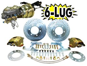 "1955-59 Chevy Truck Power Disc Brake Conversion Kit, 6 x 5.5"" Bolt Pattern"