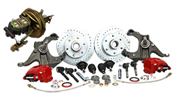 Disc Brake Conversion Kit, 1963-66 Chevy Truck C10, Front, Power, 5 and 6 Lug
