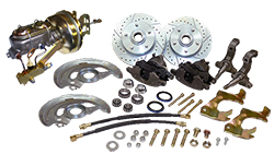 1964-66 Chevy Chevelle Power Disc Brake Conversion Kit, OEM Spindles