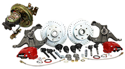 Disc Brake Conversion Kit, 1967-70 Chevy Truck C10, Front, Power, 5 and 6 Lug