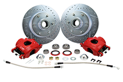 60-87 CHEVY C10 TRUCK DISC BRAKE WHEEL COMPONENT KIT, 6-LUG